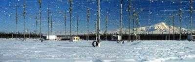 En Alaska, 13,4 hectares d'antennes sont capables de chauffer l'atmosphère à 100 kilomètres d'altitude…