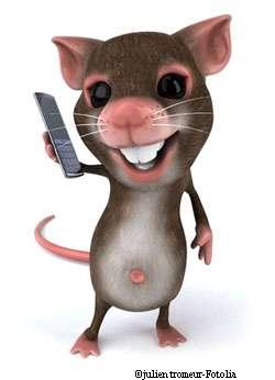 Les téléphones portables agiraient de façon bénéfique pour des souris atteintes d'Alzheimer. © JulienTromeur/Fotolia