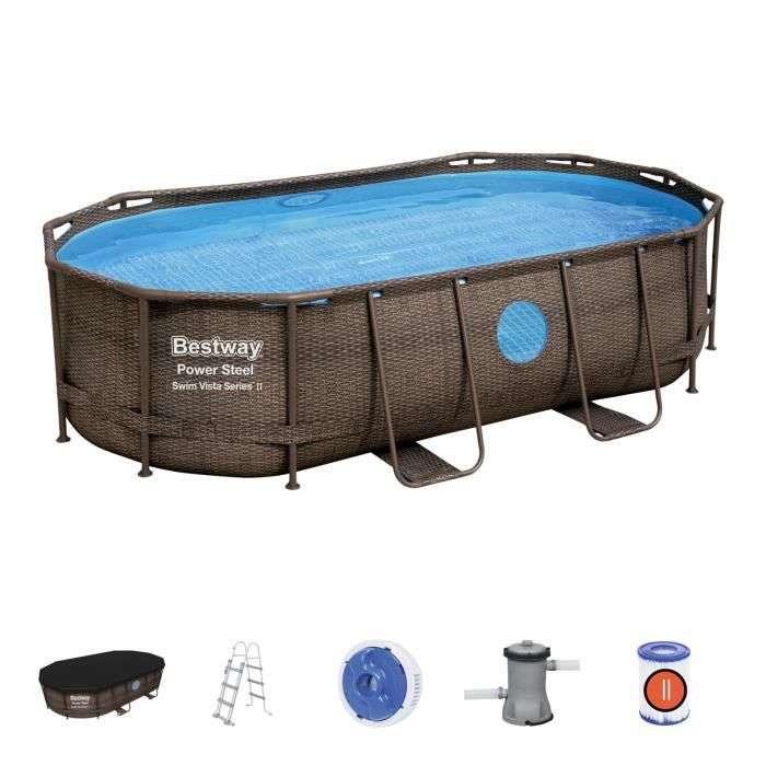 Soldes Cdiscount : la piscine tubulaire BESTWAY Power Steel Ova à -206 €