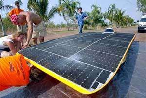 Le véhicule solaire Nuna II.Crédit : David Hancock
