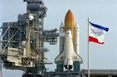Discovery en attenteCrédit : NASA/KSC