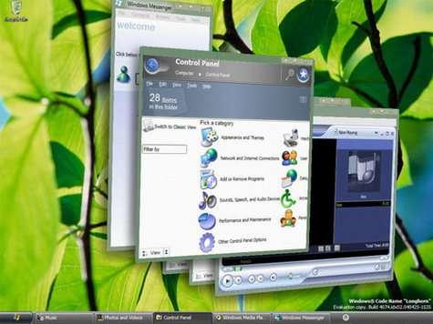 Windows Vista et son interface graphique Aero : transitions en 3D, fenêtres translucides...