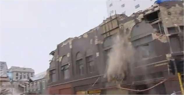 La ville de Christchurch (350.000 habitants) a subi de gros dégâts au moment de ce séisme survenu très près de l'agglomération. © YouTube