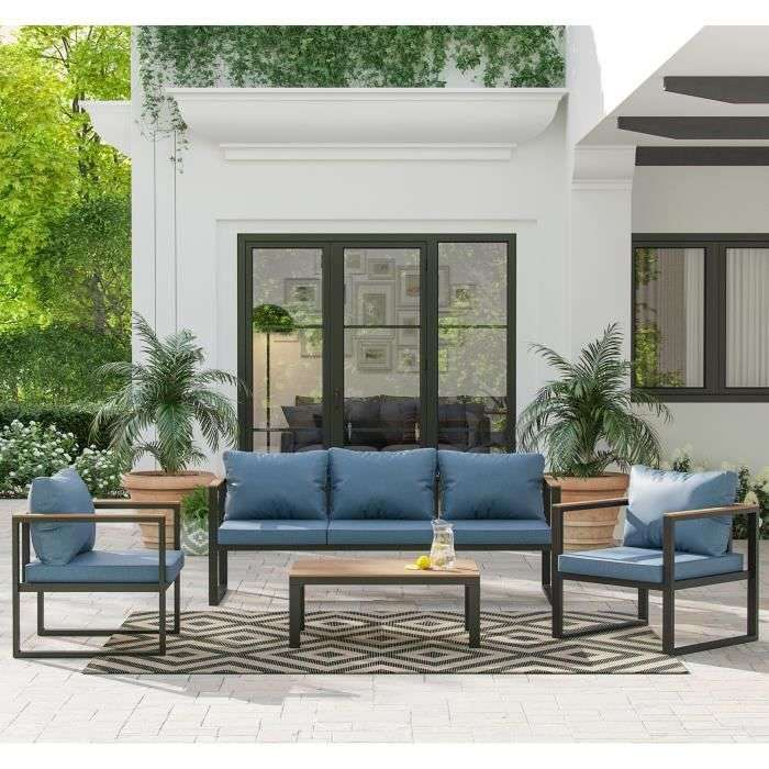 Bon plan : le salon de jardin Elona de la marque BEAU RIVAGE © Cdiscount