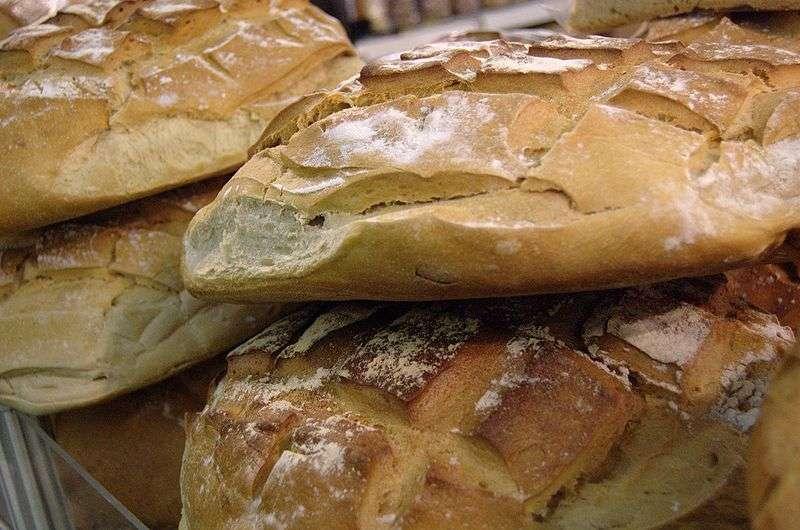 Le pain au blé est un des aliments bannis du régime des patients atteints de maladie cœliaque. © Kos / Licence Creative Commons