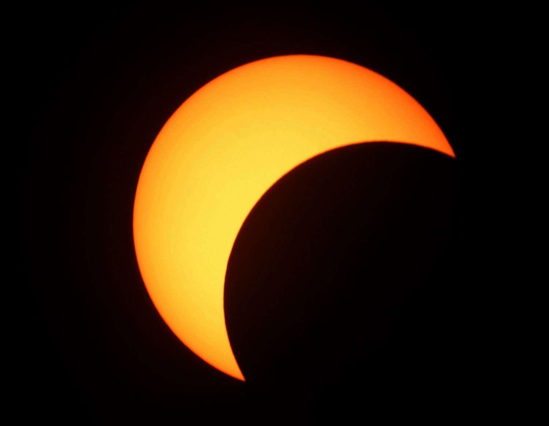L'éclipse solaire du 25 novembre sera partielle sur l'Antarctique. © M. Angelroth
