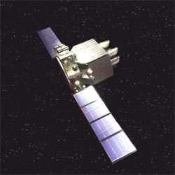 Vue d'artiste de la sonde européene Eddington.crédit : ESA. Illustration par Medialab.