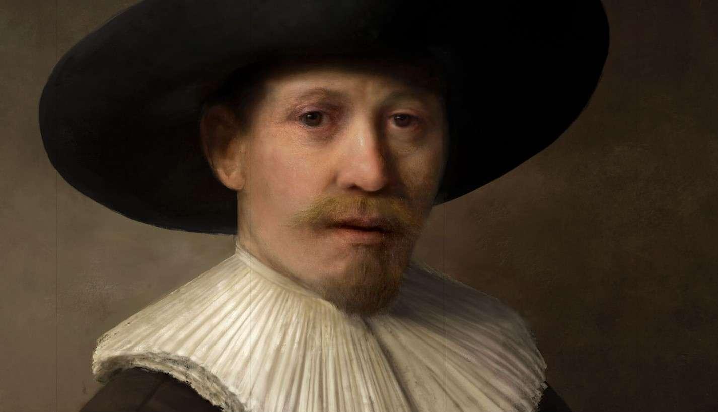 Avec l'intelligence artificielle, notamment grâce au deep learning, il est possible d'assimiler la technique d'un peintre, fût-il un des plus grands. Ensuite, l'impression 3D permet de réaliser un tableau avec une texture semblable à une véritable peinture. © Projet Next Rembrandt