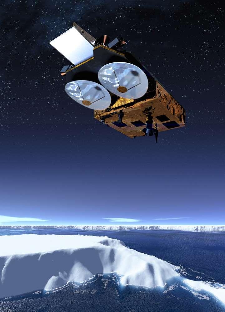 CryoSat-2 est un nouvel outil mis à la disposition de la communauté scientifique pour étudier un des nombreux mécanismes de la machine climatique. Crédit Astrium
