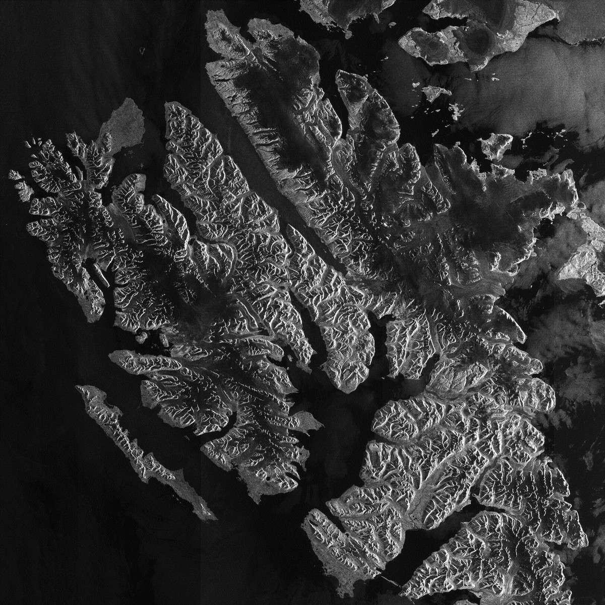 Cette image a été prise le 6 septembre par la radar Asar (Advanced Synthetic Aperture Radar) d'Envisat. © Esa