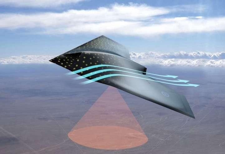 Spécialisé dans la défense et l'aéronautique, BAE Systems (Royaume-Uni) travaille depuis plusieurs années sur un revêtement intelligent dont il veut recouvrir le fuselage des avions. Il s'agirait d'une peinture renfermant des nanocapteurs capables de récolter toutes sortes d'informations sur les conditions extérieures susceptibles de révéler un dommage, l'usure d'une pièce ou des turbulences. © BAE Systems