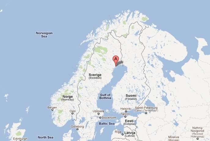 Facebook a décidé de placer son prochain centre de traitement des données à Lulea, en Suède. Ce sera le premier data center du célèbre réseau social situé en dehors des États-Unis. © Google Map