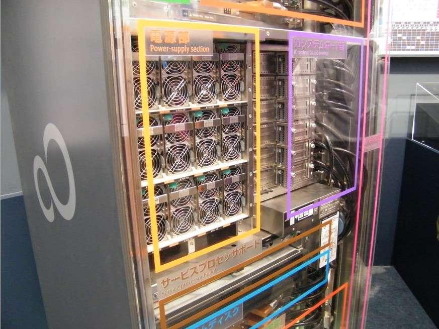Le supercalculateur K de Fujitsu est composé de 705.024 cœurs de calcul qui peuvent atteindre une capacité de calcul de 10,51 pétaflops. © Fujitsu, Riken