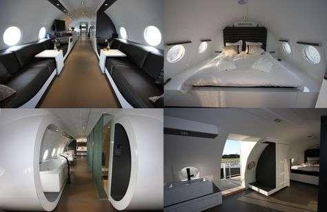 Et si vous dormiez dans un avion aménagé en suite de luxe ? © Hotelsuites.nl