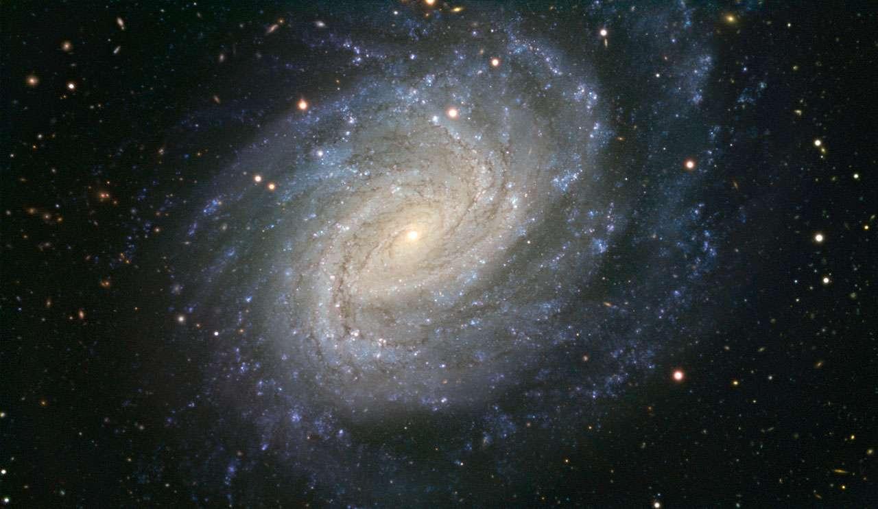 Cette image, prise avec le très grand télescope (VLT) de l'ESO, montre la galaxie NGC 1187. Cette galaxie spirale impressionnante se situe à 60 millions d'années-lumière de la Terre dans la constellation de l'Éridan. NGC 1187 a été le théâtre de deux explosions de supernova observées au cours des trente dernières années, la dernière en 2007.