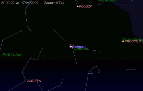 Maximum de l'essaim des météores des delta-Cancrides