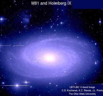 Les astronomes sont partis à la chasse aux céphéides ULP comme ici dans la galaxie M81. Crédit : Ohio State University