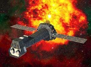 Le satellite européen XMM. crédit ESA.
