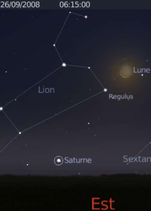 La Lune est en rapprochement avec l'étoile Régulus