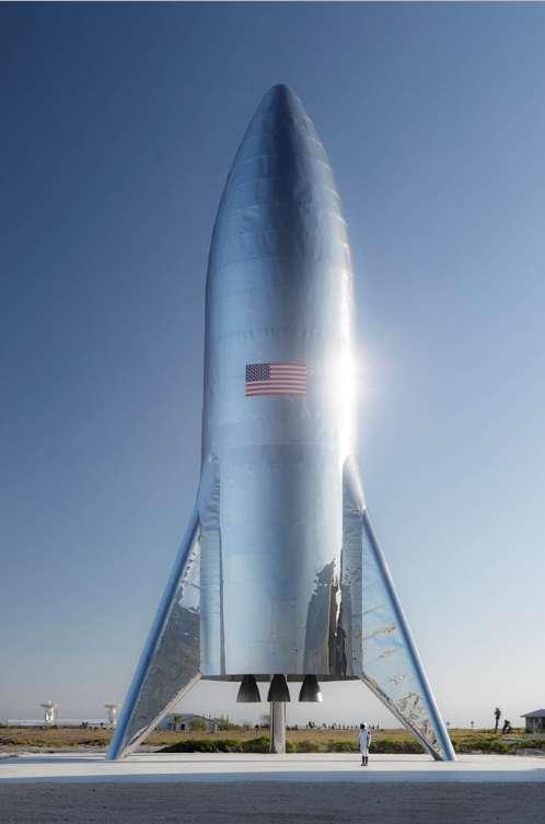 La construction du premier prototype du Starship de SpaceX vient d'être achevée. © SpaceX