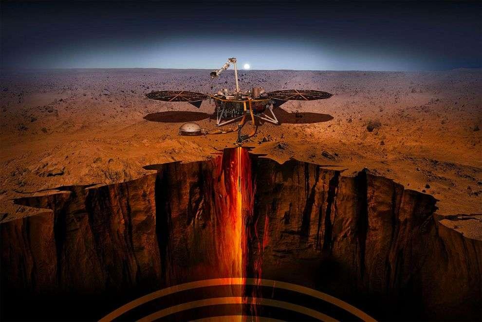 Après sept mois de voyage, InSight atterrit enfin sur Mars ! Un moment excitant à vivre ce lundi 26 novembre au soir et à savourer en BD, en attendant. © Nasa/JPL-Caltech
