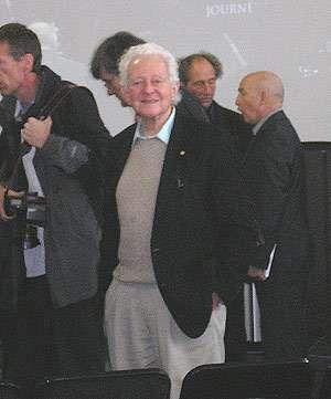 Leon Lerdeman lors de l'inauguration du CMP Georges Charpak. Crédit : Futura-Sciences