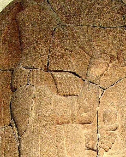 Stèle représentant le roi Esarhaddon, actuellement exposée à Berlin. Ce monarque assyrien régna de 680 à 669 avant notre ère. © Maur, Wikimedia common, DP