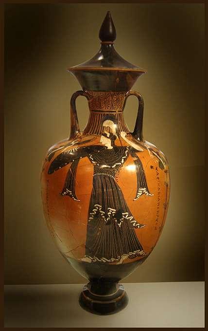 Une amphore grecque montrant la déesse Athéna. © Ricardo André Frantz-wikipédia