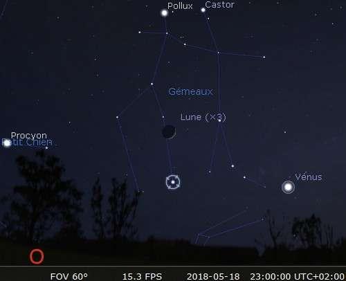 La Lune en rapprochement avec Alhena