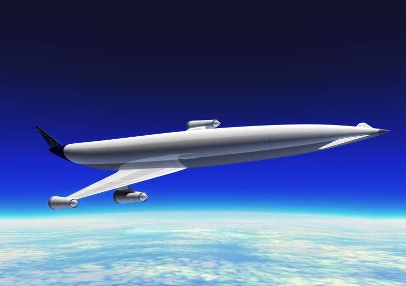 L'A2 en vol stratosphérique à 25.000 mètres d'altitude. © Reaction Engines