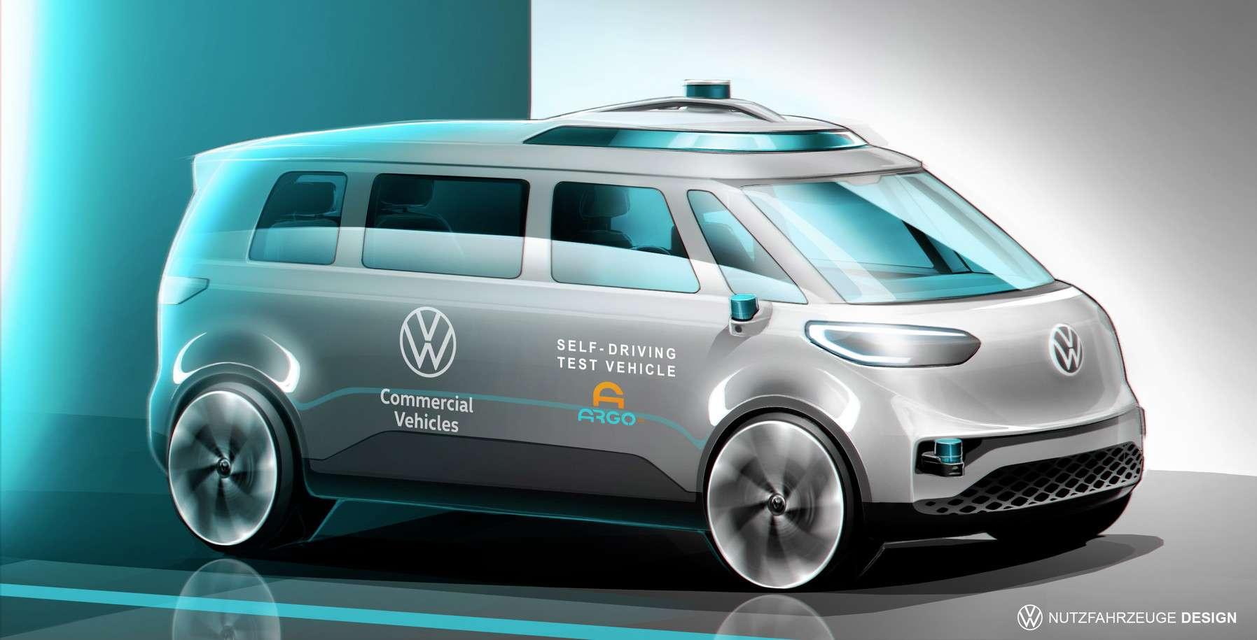 Le combi électrique ID.Buzz sera le premier véhicule autonome de Volkswagen