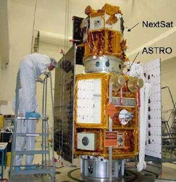 Préparation des satellites NextSat et Astro avant le lancement.