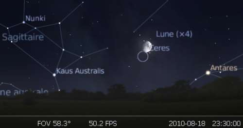 La Lune est en rapprochement avec la planète naine Cérès