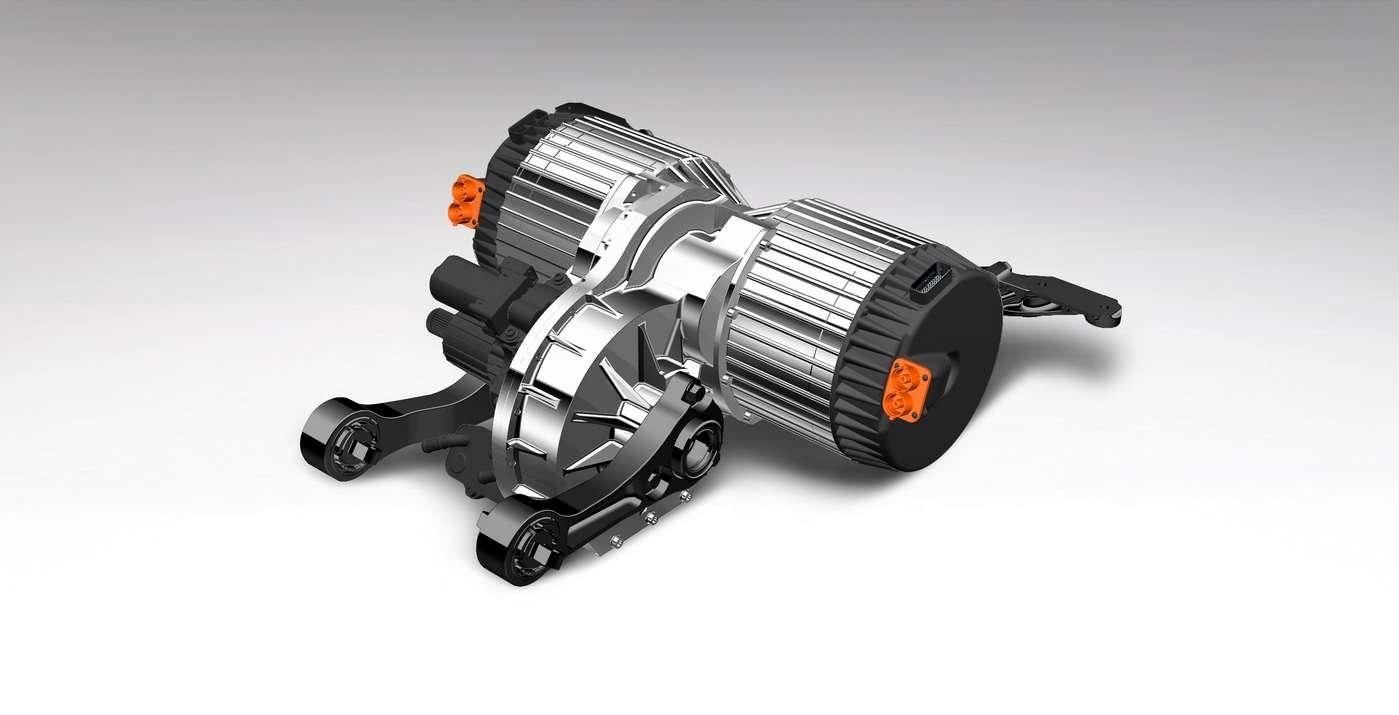 Le moteur électrique que Bentley développe dans le cadre de son programme Octopus. © Bentley Motors