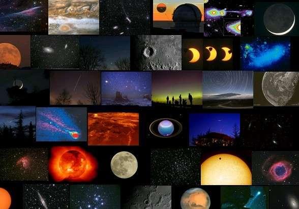 Quelques-unes des images que vous verrez défiler sur le blog astro du 2 au 5 avril.