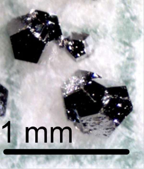 Sur cette image on voit des dodécaèdres formant la phase icosaèdrale des quasicristaux magnétiques découverts par les chercheurs. © Ames Laboratory