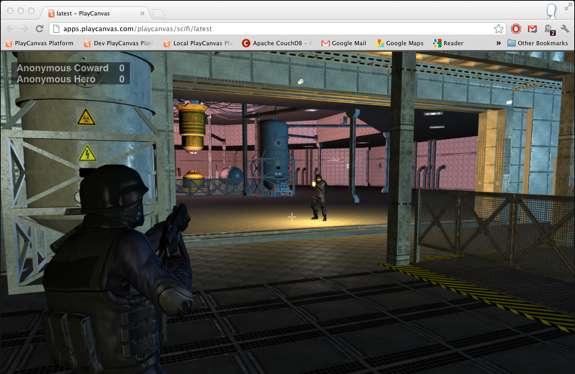Le test du jeu vidéo réalisé en HTML5 est disponible sur Internet, son nom reste à déterminer... © PlayCanvas