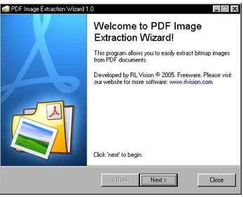 Fenêtre d'accueil du logiciel d'extraction Wizard. © Wizard