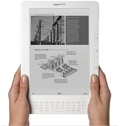 Le Kindle DX. Crédit Amazon