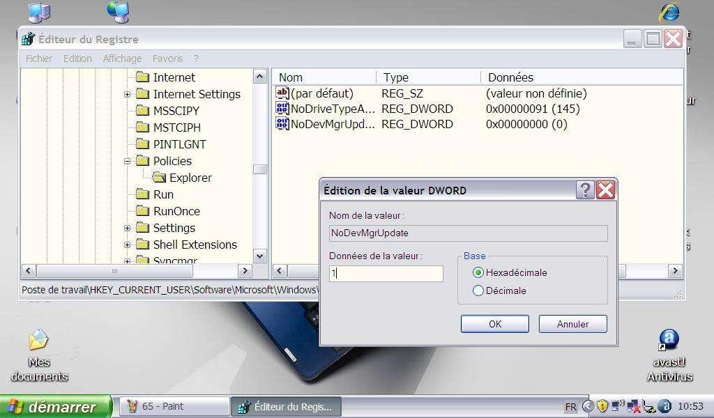 Désactivation de la mise à jour des drivers sur Internet - Crédits Futura-Sciences