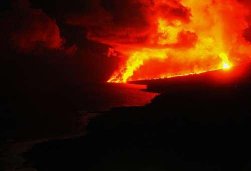 Eruption volcanique - Crédits DR.
