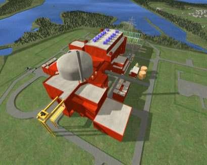 Image virtuelle du réacteur nucléaire EPR (Crédits : Image & Process, AREVA NP)