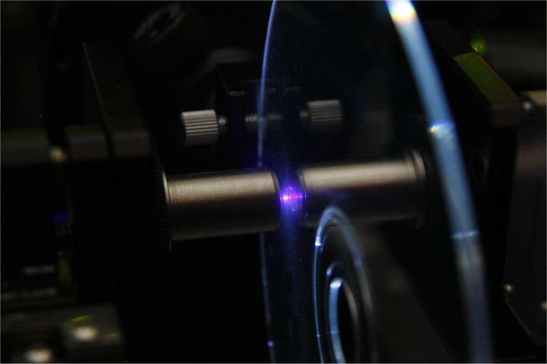 Une tête de lecture à laser et une optique qui, explique-t-on, ressemblent beaucoup à celles d'un lecteur de DVD. © Business Wire