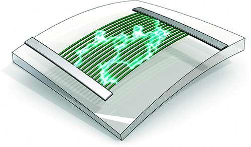 L'effet piézo-électrique déclenché par la déformation de la membrane de silicone souple. © 2010 American Chemical Society