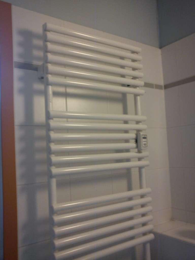 Un sèche-serviettes est pratique à la fois pour évacuer l'humidité de vos serviettes et pour réchauffer la salle de bains. © Duane Boisclair, Flickr, cc by 2.0