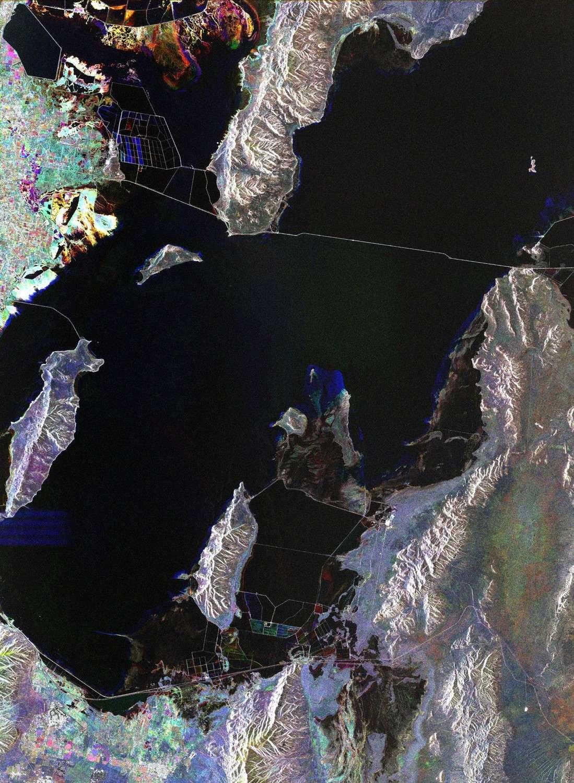 Le Grand Lac salé vu par le satellite Envisat. © Esa