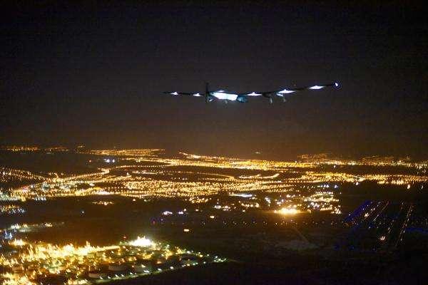 Le SI2 de Solar Impulse approche de Hawaï, ce 3 juillet. © Solar Impulse