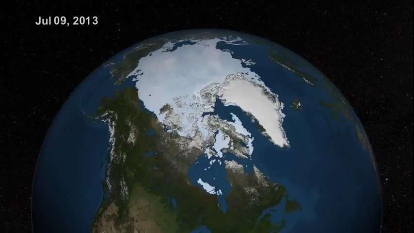 Fonte maximale de la banquise arctique en 2013