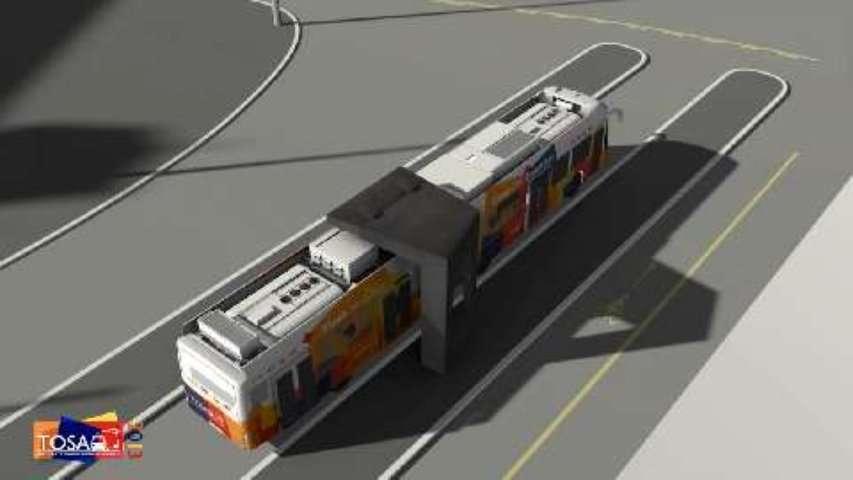 Tosa, le bus électrique chargé en 15 secondes