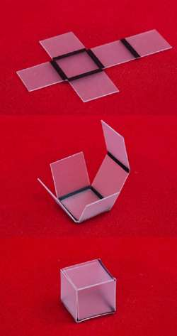 Du 2D au 3D à la seule force de la lumière. © Chemical and Biomolecular Engineering Laboratory/ NC State University